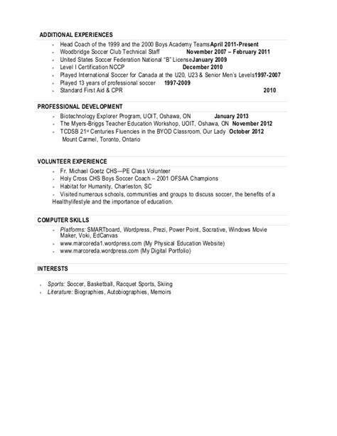 Soccer Coach Resume by Resume