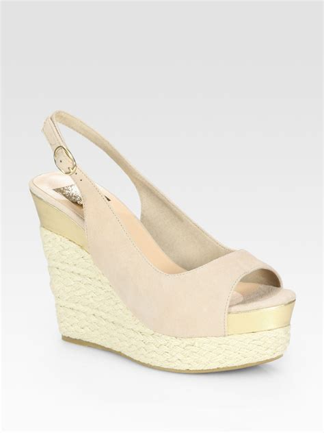 dolce vita wedge sandals dolce vita joss suede slingback espadrille wedge sandals