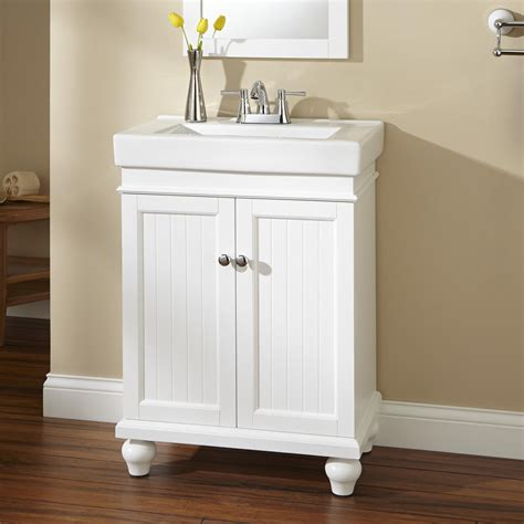 White Bathroom Vanities 24 Quot Lander Vanity White Bathroom