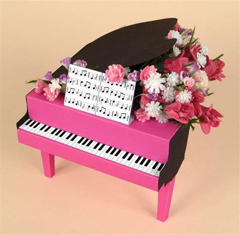 piano template card a4 card templates for 3d grand piano display box