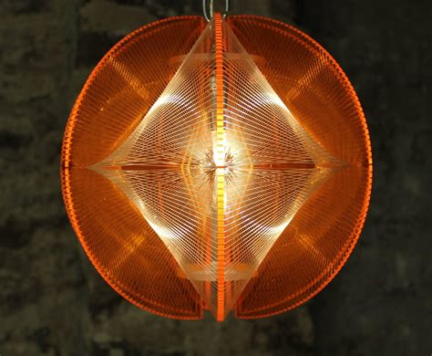 Mid Century Modern Lucite Geometric String Light Fixture Modern String Lights