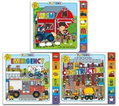 Playtown Emergency playtown lift the flap 3 books collection set with flaps