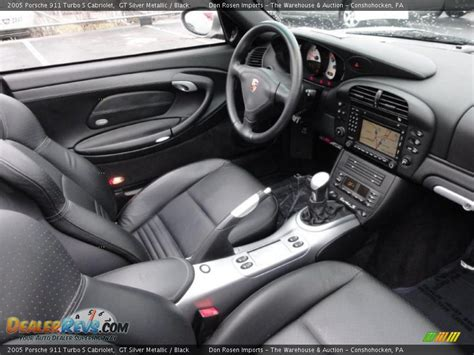 black porsche interior black interior 2005 porsche 911 turbo s cabriolet photo