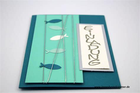 konfirmationskarten selber basteln fischmotiv