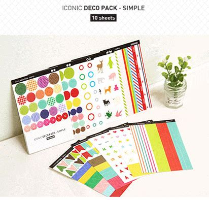 In Diary Deco Stickers Sticker Hiasan Buku the magic notebook stickers iconic s deco pack simple