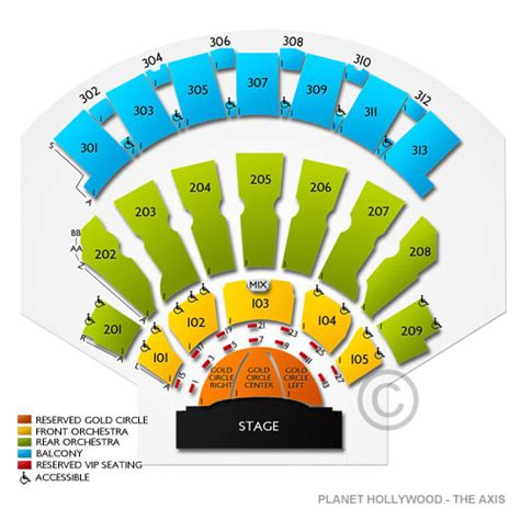 axis las vegas seating chart the axis at planet resort and casino tickets