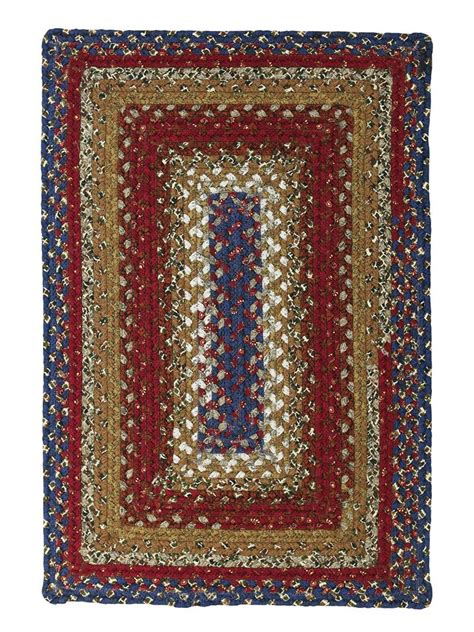 Log Cabin Area Rugs Log Cabin Step Cotton Braided Rug Cottage Home 174