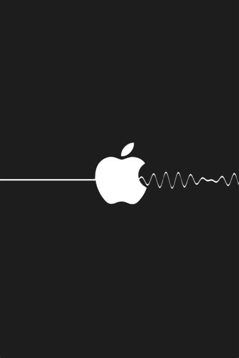 computers apple logo pulse black  white