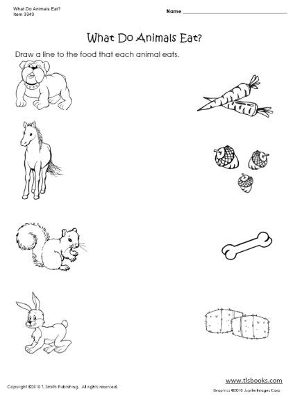 Nursery Animal Heads by Free Matching Objects Worksheets For Preschoolers The