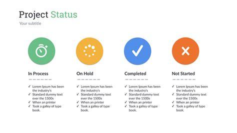 Project Status Keynote Presentation Template by SanaNik