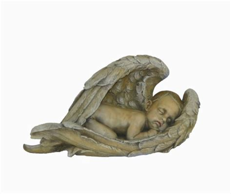 accents occasions sleeping baby in angel wings sculpture