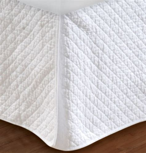 Quilted Bedskirt by White Quilted King Bedskirt
