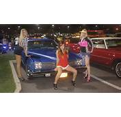 Super Tuner Models Posing With The 74 Pontiac LeMans Sport