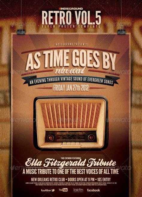 retro vintage psd flyer templates bashooka