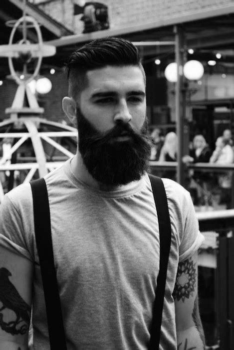 undercut  beard haircut  men  manly hairstyles