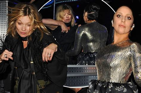 The 3am Worse For Wear Kate Moss And Osbourne Pair Up For A Out by Gaga And Kate Moss A Out In