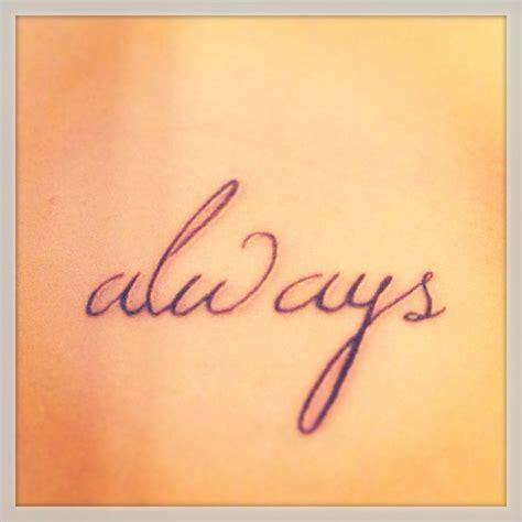 my harry potter always rib tattoo tattoos pinterest