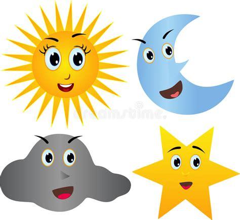 estrella del sol de la luna en c 237 rculo del arco iris estrella feliz de las nubes de la luna del sol imagen de