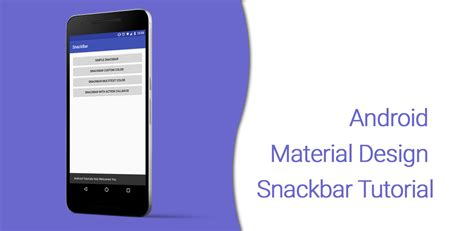 tutorial video android android material design snackbar tutorial android
