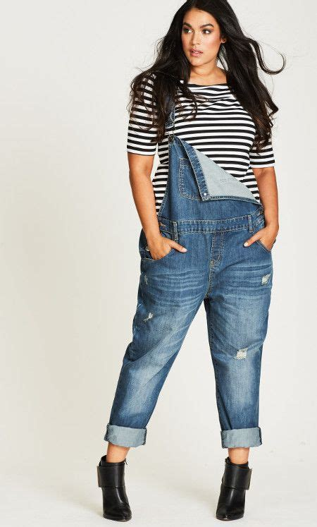 Sachi Overall denim overall plus sizes fashion