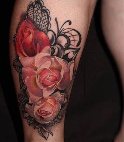 flower tattoos inked magazine pinteres