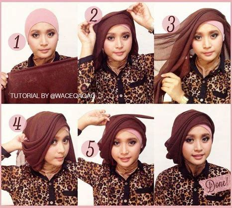 tutorial jilbab buat pesta cara memakai jilbab kreasi jilbab paris untuk ke pesta