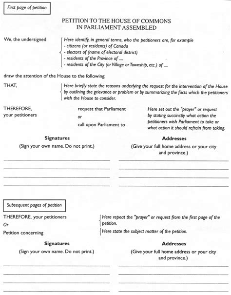 Petition Letter Format Exles Petition Exles Write A Petition