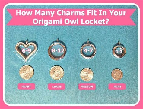 How Many Charms Fit In An Origami Owl Locket - not sure what size locket to get use this helpful guide