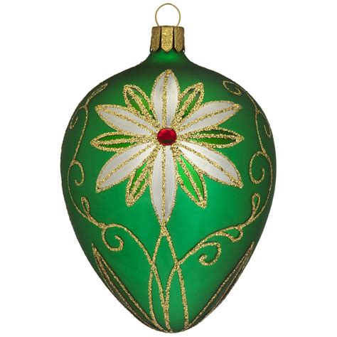 waterford christmas green egg ornament