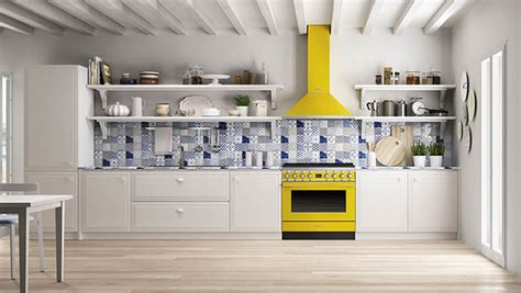 Kitchen Drawers Design Smeg Cookers In The Colours Of Portofino Smeg Com