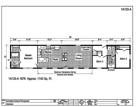 1999 redman mobile home floor plans redman mobile home