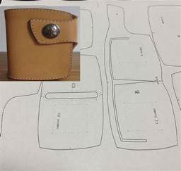 leather wallet template leather craft patterns diy designs wallet paper