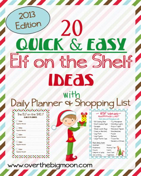 20 Elf on the Shelf Ideas with Shopping List and Daily