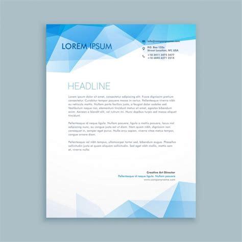 Premium Design Vorlage Blau Abstrakte Formen Briefkopf Vorlage Der Kostenlosen Vektor