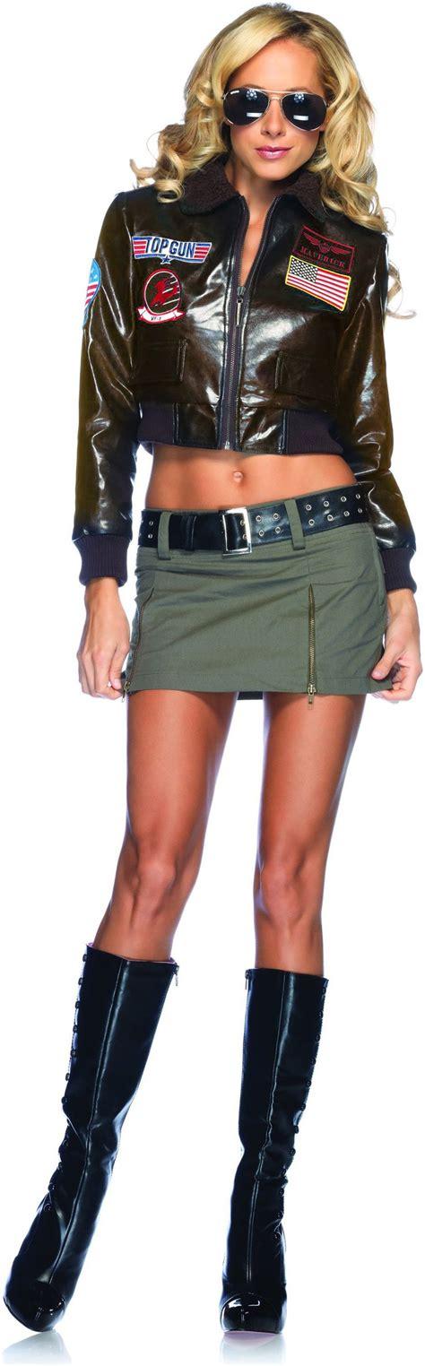 topgun women hairstyle top gun bomber jacket adult costume female 79 99