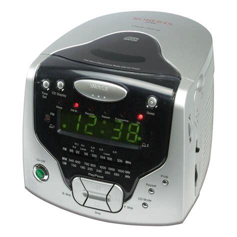 roberts cd cube cr clock radio  cd player headphone output  silver ebay