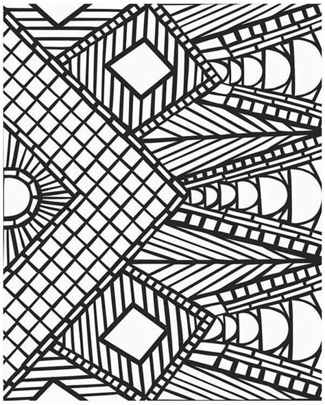 the beauty of the design of mosaic coloring pages for kids