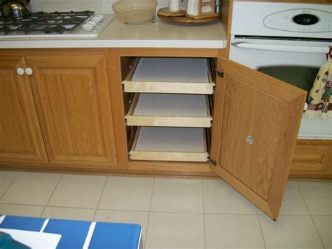 Cabinet Roll Out Shelves by Pull Out Cabinet Shelves Home Decorations