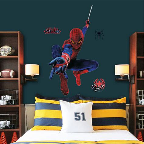 superman home decor giant superman spiderman 3d wall sticker for boys rooms