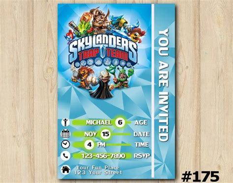 Unavailable Listing On Etsy Skylanders Birthday Invitations Template