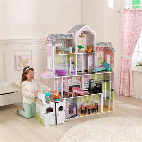 kidkraft dolls houses kidkraft grand estate dollhouse 26 pieces of furniture