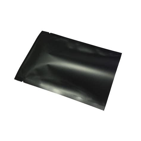 matte mylar clear matte black mylar foil flat open top bags