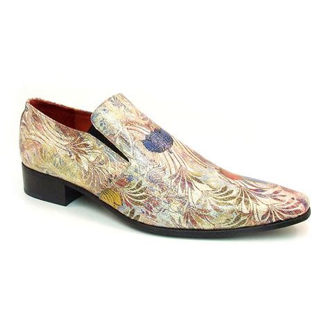 funky tropical slip on mens floral shoes gucinari