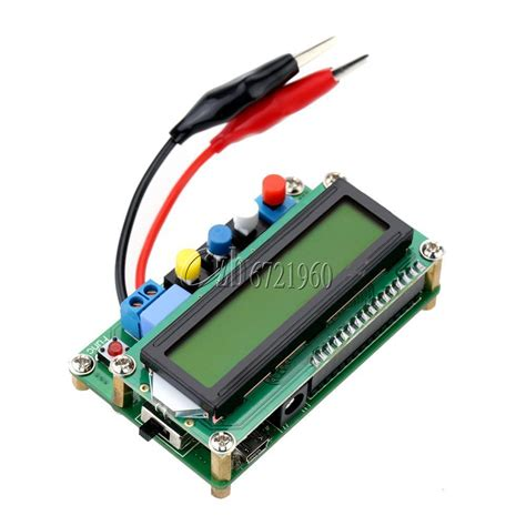 arduino inductor tester new yellow lc100 a lcd high precision inductance capacitance l c meter tester