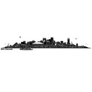New orleans skyline silhouette with superdome 11254 skyline new