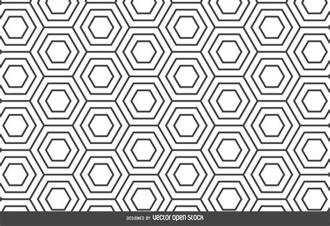 Design Pattern Graphic Editor | hexagon linear pattern backdrop vector download