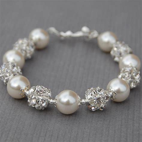 Hochzeitsschmuck Armband by Hochzeits Elfenbein Perlen Und Strass Armband Sekt