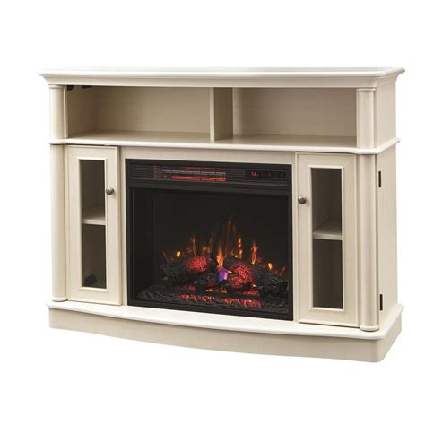 Front Electric Fireplace by Home Decorators Collection Tolleson 48 In Tv Stand