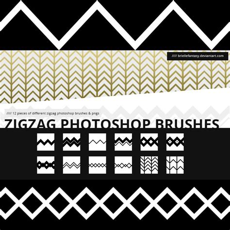 pattern brush zig zag zigzag brushes photoshop brushes brushlovers com