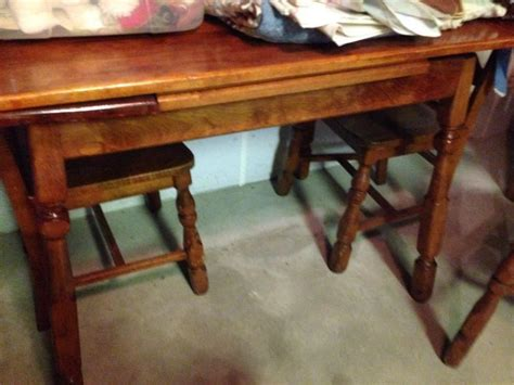 table with slide out leaves maple table w pull out leaves 4 chairs
